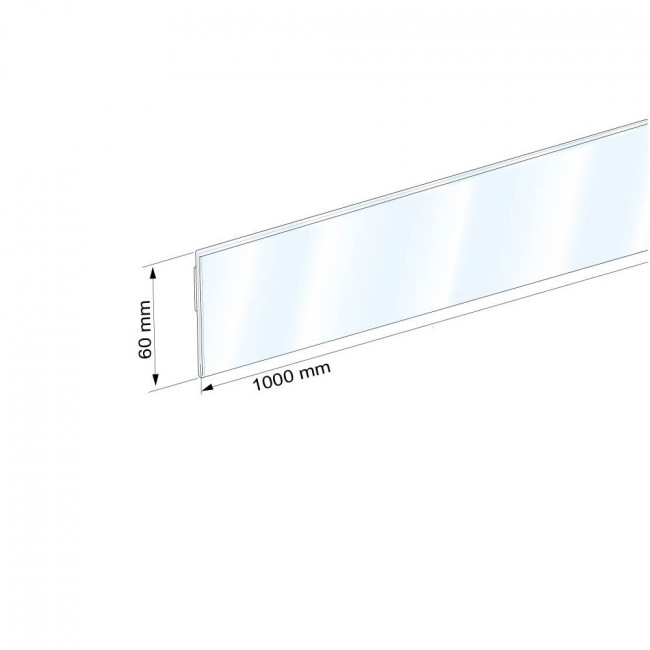 Profil porte tiquette papier pli adh sif antireflet for Porte hauteur 60