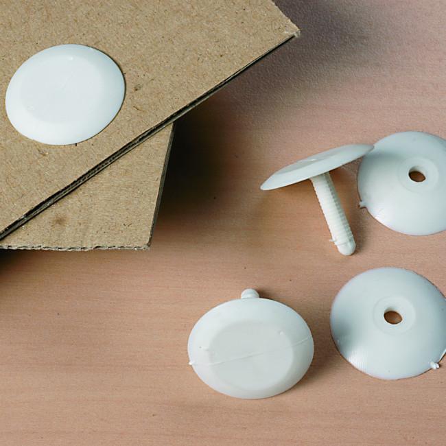 bouton pression 28 mm blanc serrage 22 mm. Black Bedroom Furniture Sets. Home Design Ideas