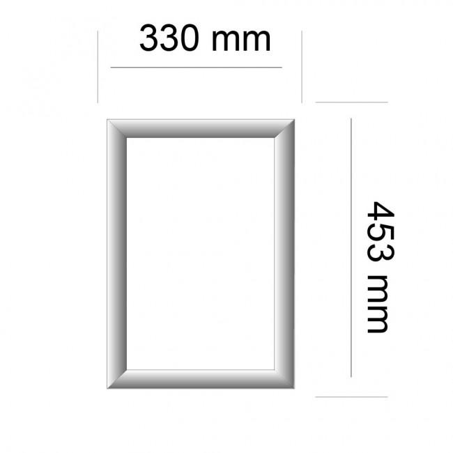 cadre aluminium coin carr format a3. Black Bedroom Furniture Sets. Home Design Ideas