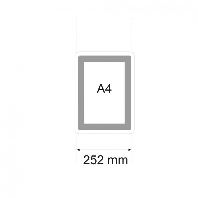 porte affiche led a4 vertical. Black Bedroom Furniture Sets. Home Design Ideas