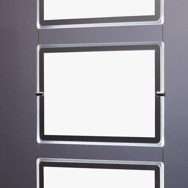 porte affiche led a3 horizontal. Black Bedroom Furniture Sets. Home Design Ideas