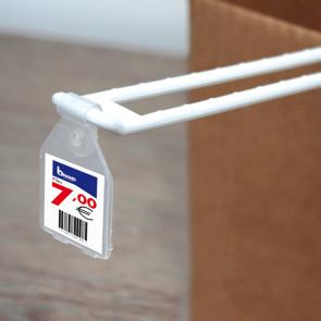 Porte-étiquette broche double 30 x 28 mm.