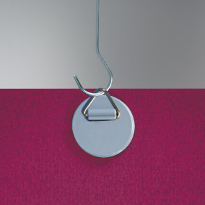 Crochet rond adhésif avec anneau métal