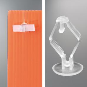 Mini rivet plastique