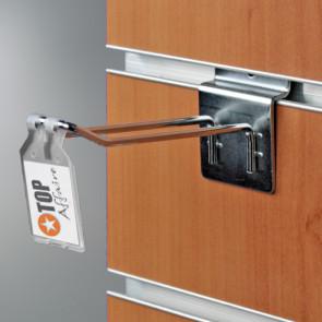 Porte-étiquette broche double métal